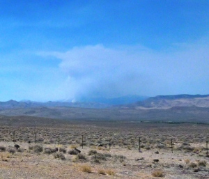 Bison Fire from East